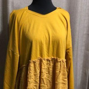 Tops - Oversized mustard sweater
